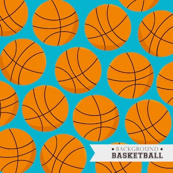 Progettazione di pallacanestro, illustrazione vettoriale.