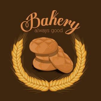 Progettazione di panetteria, illustrazione vettoriale.