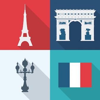 Progettazione di parigi, illustrazione vettoriale.