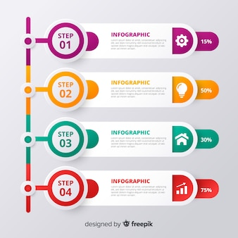 Progettazione di passaggi infografica astratta