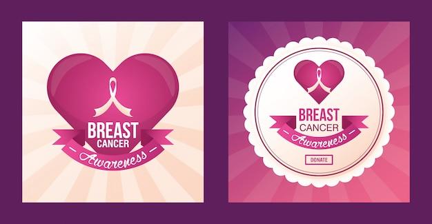 Progettazione di raccolta fondi per la consapevolezza del cancro al seno