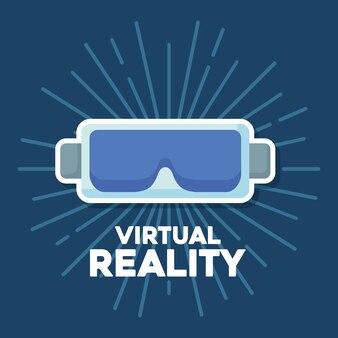 Progettazione di realtà virtuale con l'icona di occhiali vr