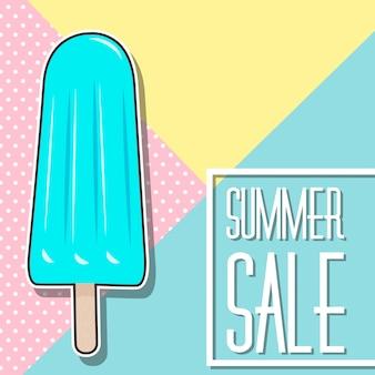 Progettazione di saldi estivi con gelato
