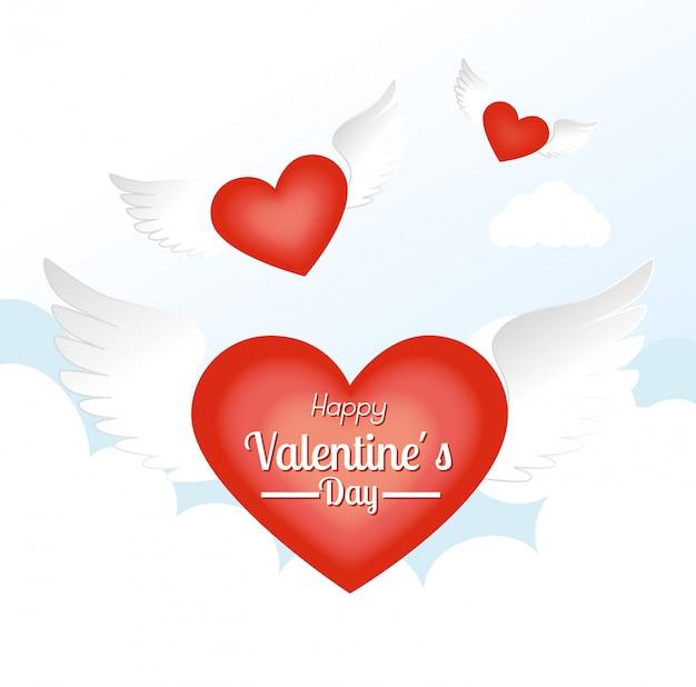 Progettazione di san valentino, illustrazione vettoriale.