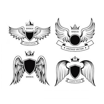 Progettazione di shield con le collezioni vettoriali delle ali