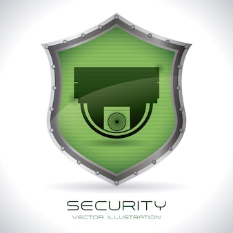Progettazione di sicurezza su sfondo grigio illustrazione vettoriale