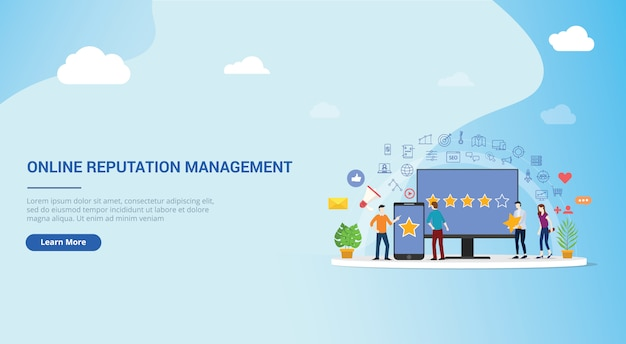 Progettazione di siti web di gestione della reputazione online