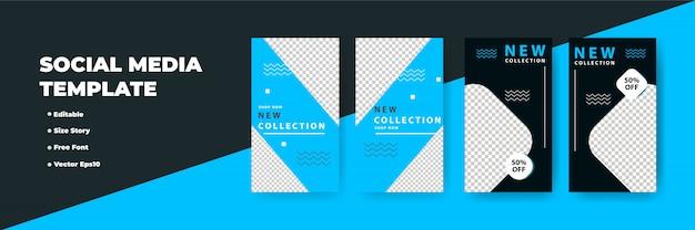 Progettazione di storie di social network creativi, banner verticale