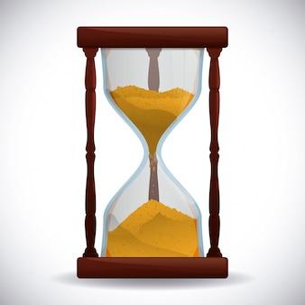 Progettazione di tempo, illustrazione vettoriale.