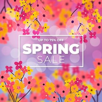 Progettazione di vendita di primavera offuscata