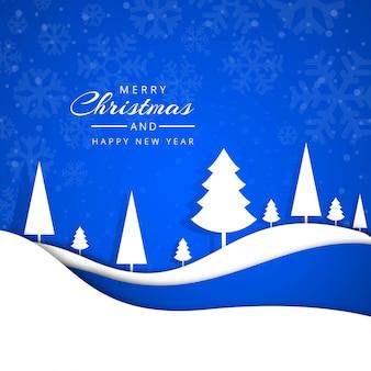 Progettazione di vettore dei fiocchi di neve della cartolina d'auguri di buon natale