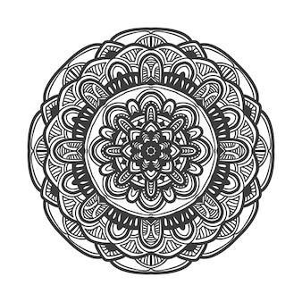 Progettazione di vettore dell'illustrazione del fiore della mandala