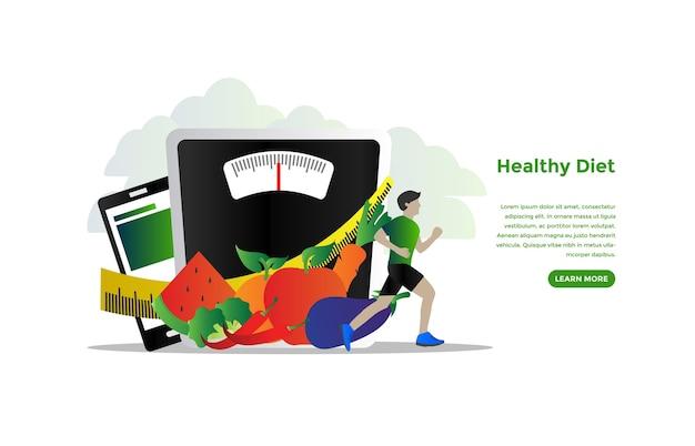 Progettazione di vettore di concetto di programma di dieta