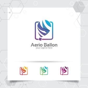 Progettazione di vettore di logo di idea intelligente con il concetto del simbolo dell'icona della lampadina e del bulp.
