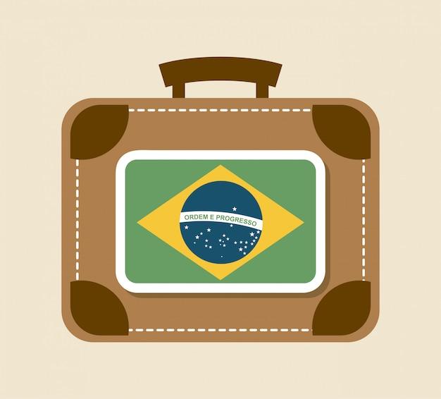 Progettazione di viaggio su sfondo beige illustrazione vettoriale