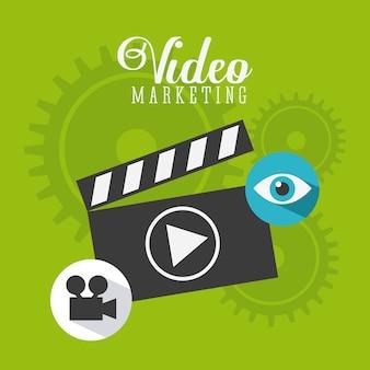 Progettazione di video marketing, grafico dell'illustrazione eps10 di vettore