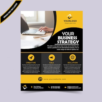 Progettazione di volantino di business creativo