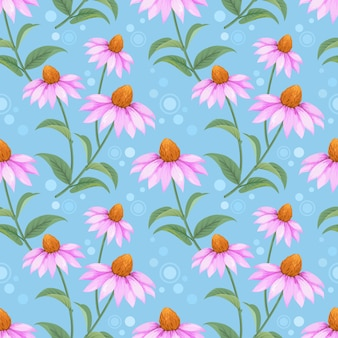 Progettazione disegnata a mano variopinta di vettore del modello di fiori del cono. può utilizzare per lo sfondo di carta da parati tessile tessuto.