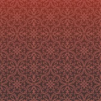 Progettazione e carta da parati senza cuciture del modello del fondo del damasco fatte delle mattonelle di ceramica di struttura turca nel vettore
