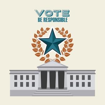Progettazione elettorale democratica, grafico dell'illustrazione eps10 di vettore