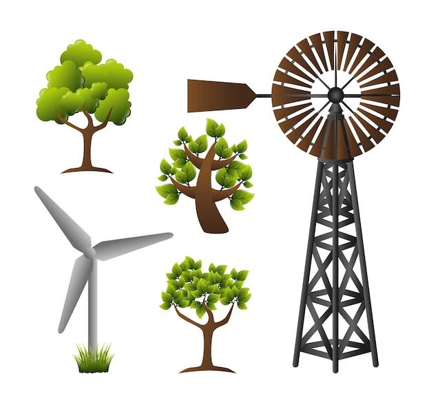 Progettazione energetica, illustrazione vettoriale.