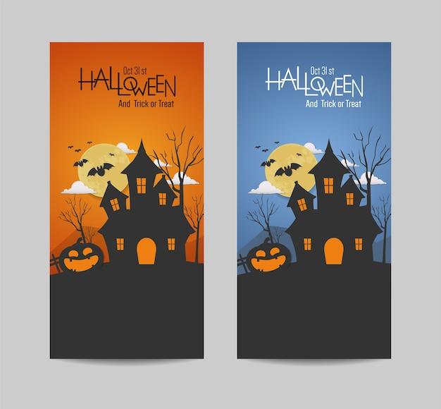 Progettazione felice di vettore dell'insegna di giorno di halloween