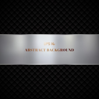 Progettazione geometrica nera di lusso astratta del modello dei quadrati su fondo scuro