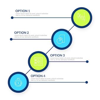 Progettazione grafica del modello di vettore di informazioni corporative