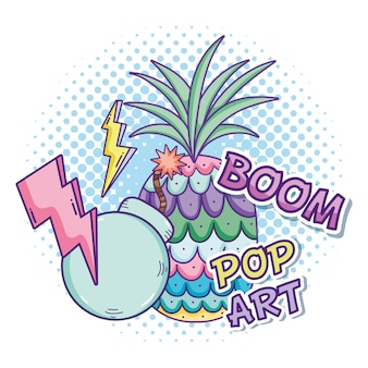 Progettazione grafica dell'illustrazione di vettore dei fumetti di pop art