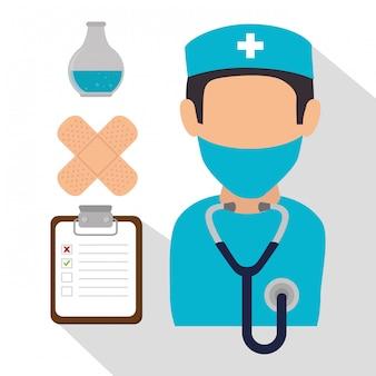 Progettazione grafica di assistenza sanitaria medica