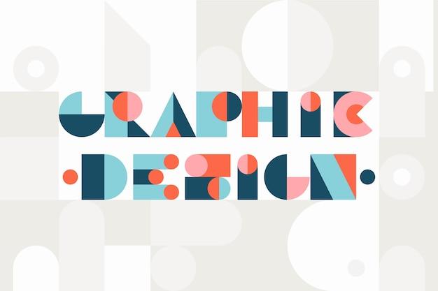 Progettazione grafica lettering stile geometrico