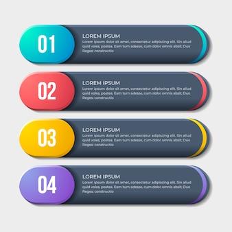 Progettazione infografica con passaggi