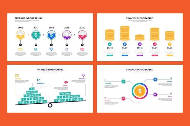 Progettazione infografica concetto di finanza