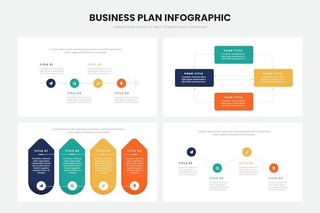 Progettazione infografica del business plan