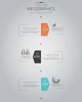Progettazione infografica minima.