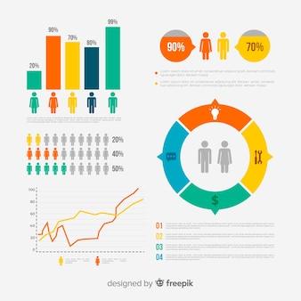 Progettazione infografica su persone, popolazione, abitanti, statistiche