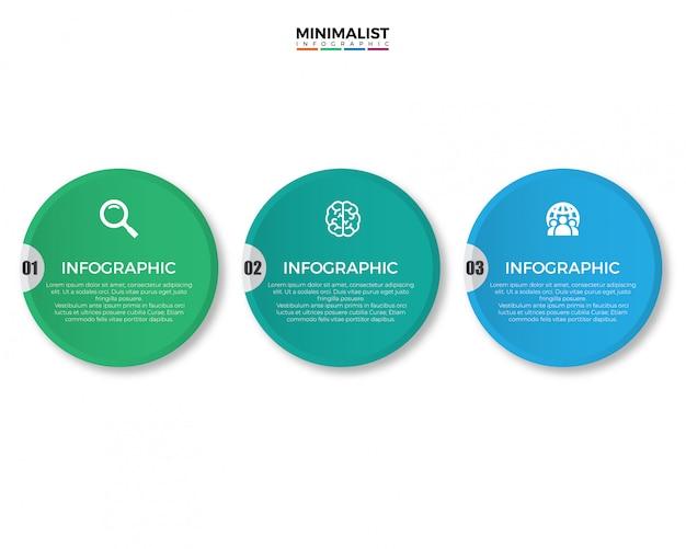 Progettazione infographic di affari moderni variopinti