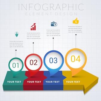 Progettazione infographic di progettazione di elemento di infographic.