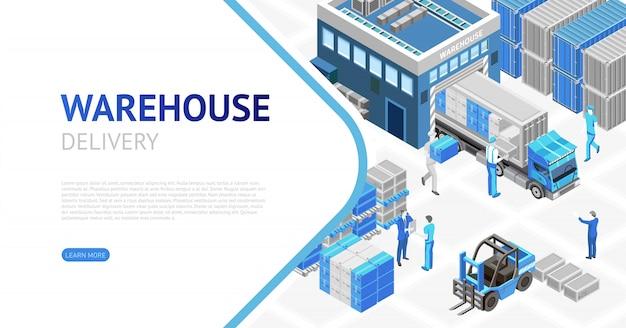 Progettazione isometrica del magazzino