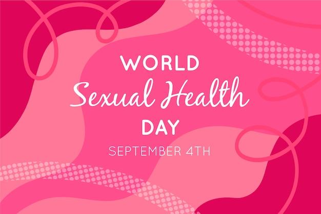 Progettazione liquida astratta di giornata mondiale della salute sessuale