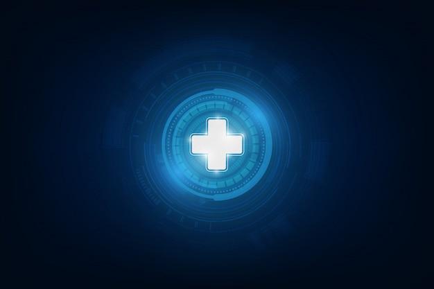 Progettazione medica del fondo di concetto dell'innovazione del modello dell'icona di sanità