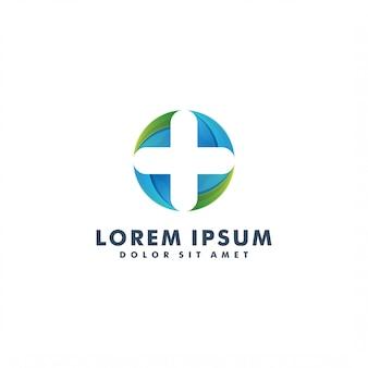 Progettazione medica dell'illustrazione di vettore del modello di logo di salute