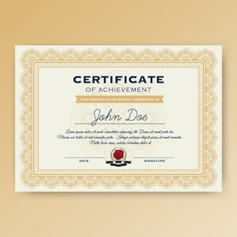 Progettazione modello di certificato