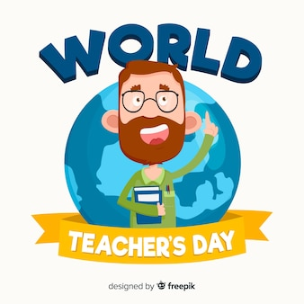 Progettazione moderna del fondo di giorno degli insegnanti del mondo