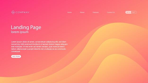 Progettazione moderna del modello web della pagina di atterraggio