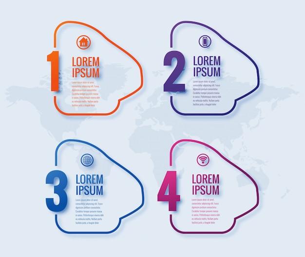 Progettazione moderna dell'insegna di infographic di affari