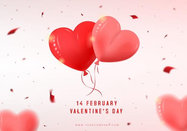 Progettazione moderna della copertina di san valentino di vettore