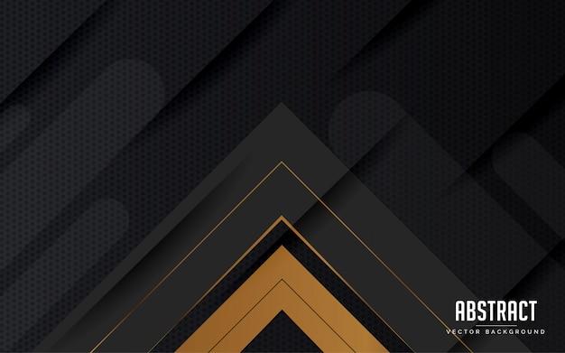 Progettazione moderna di colore nero e grigio geometrico astratto del fondo