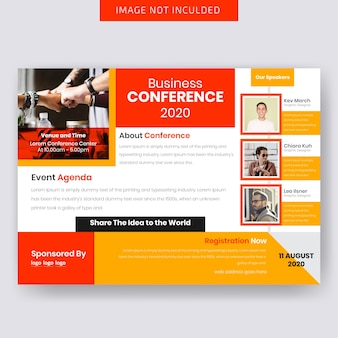 Progettazione orizzontale di flyer business conferance