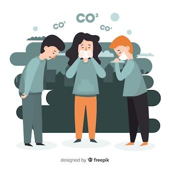 Progettazione piana del fondo di concetto di inquinamento